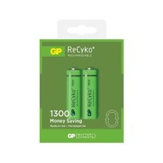 2PCS GP Recyko+ AA 1300mAh Rechargeable Battery - GP130AAHCE Malaysia