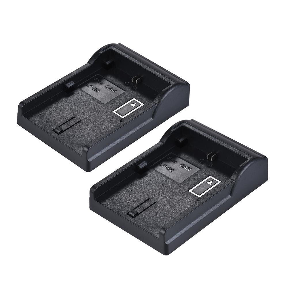 2pcs LP-E6 Plate for Neweer Andoer Dual/Four Channel Charger for Canon EOS 5DII 5DIII 5DS 5DSR 6D 7DII 60D 80D 70D - intl