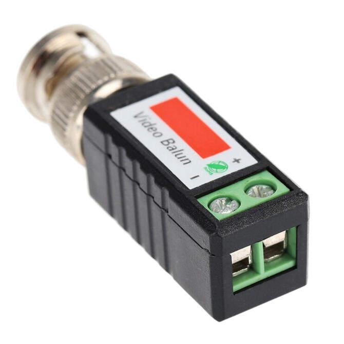 ... 2Pcs Velishy CAT5 CCTV Camera Passive BNC Video Balun to UTP Connector Transceiver intl