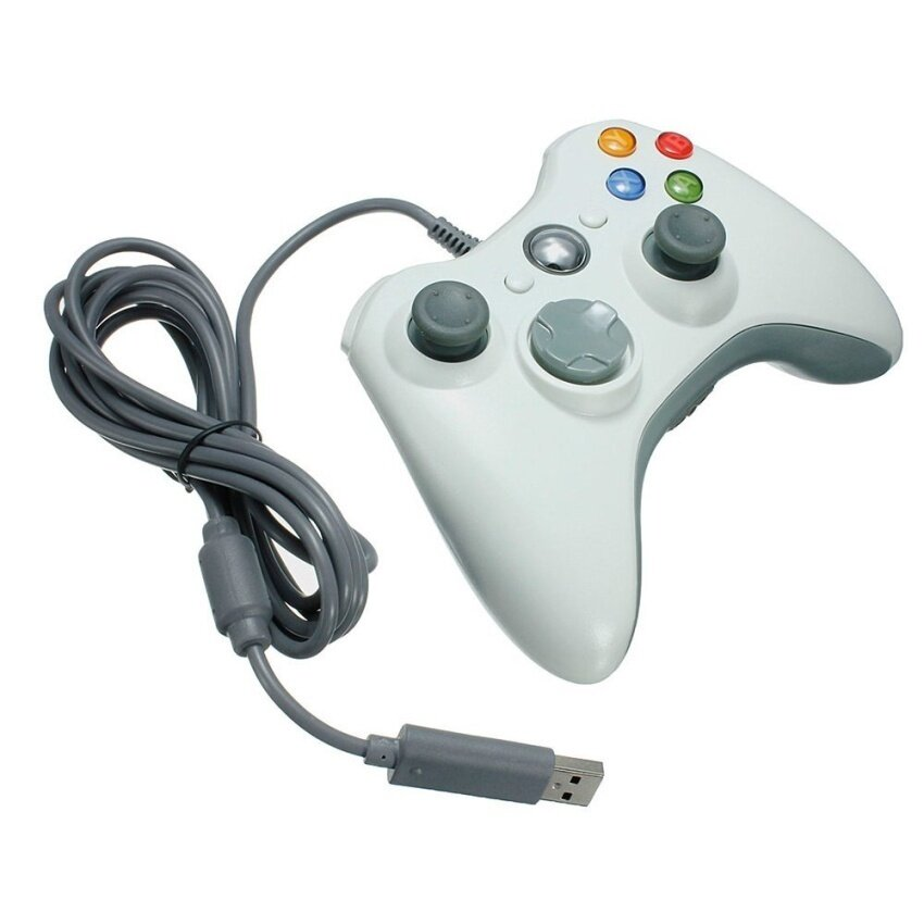 2x USB Wired Gamepad Controller for MICROSOFT Xbox 360 and Slim PCWindows 7 (White)