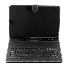 3 colors Universal genuine Leather Case Cover + Keyboard For 10Inch Tablet PC Malaysia