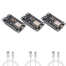 MYR 263 3 Pack - NodeMCU v3 ESP8266 SoC IoT LoLin ESP-12E WiFi Development Boards with Micro USB Cables - Lua Arduino MicroPython ...