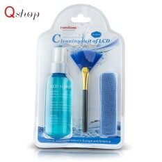 【3-Piece】Q-shop Computer Keyboard Screen Cleaner Kit to Wipe Dirt/Dust/Fingerprints/Stains Off Screens, Camera Lens, TV,phone and More, High Quality Set of Cleaning Solution/ Microfiber Cloth/Soft Brush, No Alcohol Malaysia