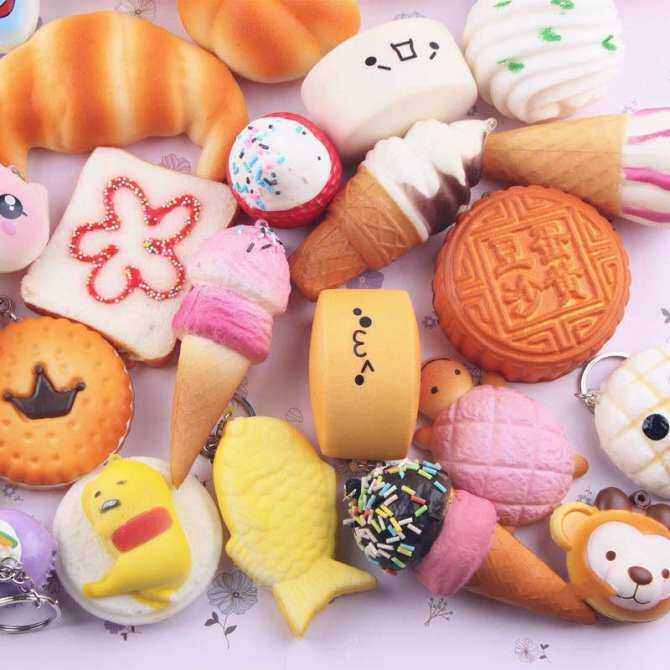 ... 30Pcs Cute Jumbo Medium Mini Random Squishy Soft Panda/Bread/Cake/Buns Phone ...