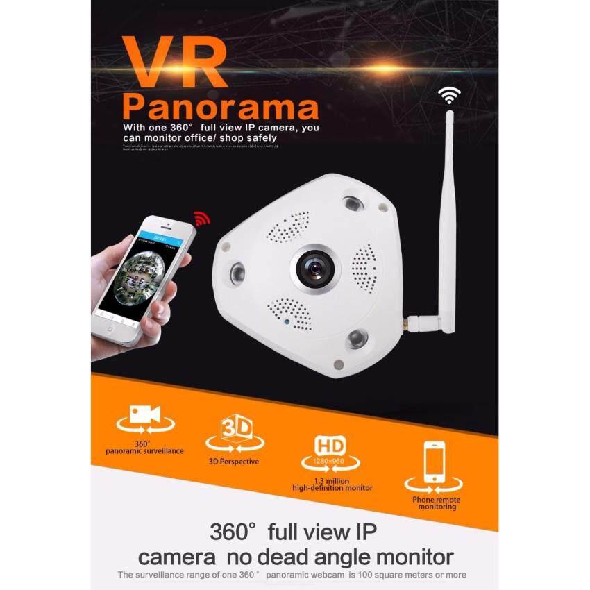 Rp 554.000 AllRise 360 Degree VR Panorama Camera HD 960P Wireless WIFI IP Camera Home Security Surveillance System Video Camera Webcam ...