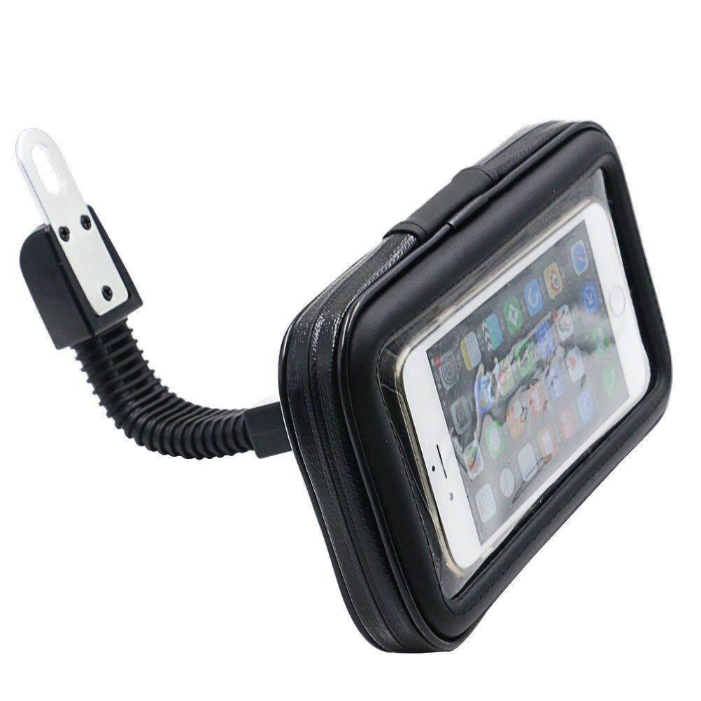360 Derajat Rotasi Sepeda Motor Ponsel Gagang Telepon Dudukan Kantong Beritsleting Tahan Air untuk iPhone 6 Plus dan Spesifikasi Yang Sama Telepon Seluler
