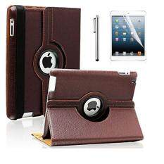 0fad5352f2 360 Rotating Stand Case PU Leather Cover with Wake Up/Sleep for Apple iPad 2
