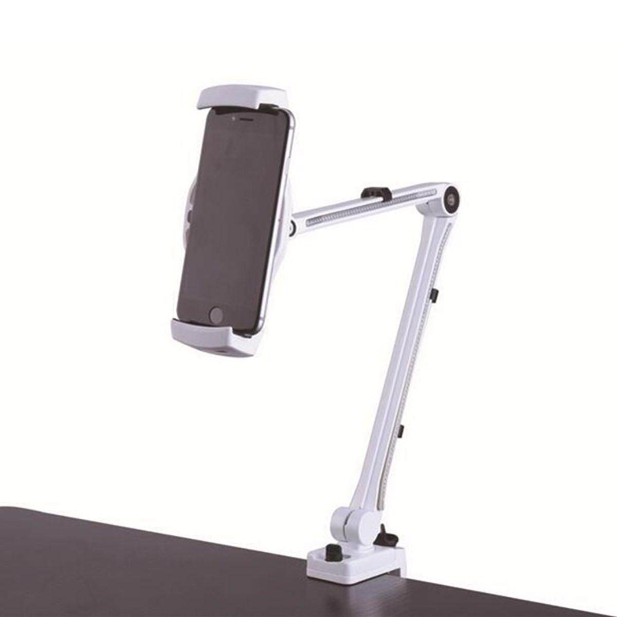 Coupon 360° Universal Lazy Bed Desktop Tablet Mount Holder Stand For Smart Phone Ipad White Intl