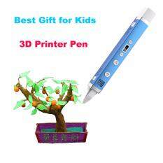 3D Pen third generation 3D Printing Pen USB Charging temperature LED Screen Doodle 3D Printer Pen ABS PLA DIY Smart 3D Printing Graffiti Pen LCD Display Kids Birthday Present Or Christmas Gift