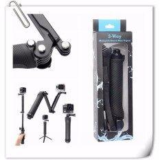 3way 3-Way Monopod Arm Tripod Stand Camera 3 Way For Gopro Eken Sjcam Thieye Yicam By Murah Online.