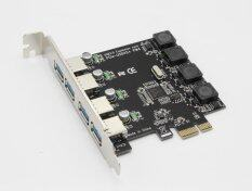 USB PCIe Card, Super Speed NEC Chipset 4 Port USB 3.0 to PCI Express Card Expansion card, PCI-E to USB 3.0 4 Port Hub Controller Adapter for Descktops PC Malaysia