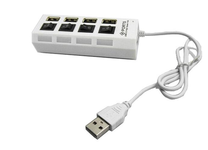 Hình ảnh 4 cổng USB 2.0 480 Mbps Tích Hợp ĐÈN LED Hiển Thị Tương Thích với USB 1.0/1.1-trắng- quốc tế