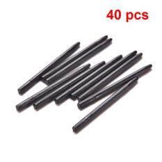 40 PCS/Banyak Gambar Grafis Pad Stylus Standar Pena Hitam Biji untuk Bambu Wacom Intuos