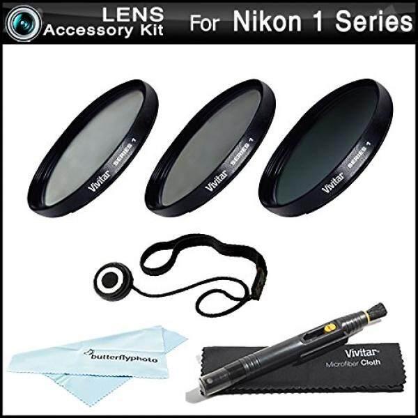 40.5 Mm Penyaring Perlengkapan untuk Nikon 1 J1, Nikon 1 V1, Nikon 1 J2, nikon 1 J4, Nikon 1 S2 Kamera Digital Mirrorless (Yang Menggunakan 10-30 Mm, 30-110 Mm, 10 Mm Lensa) Termasuk 40.5 Mm 3 PC Penyaring Perlengkapan (UV, cpl, FLD) + Lebih-Internasional