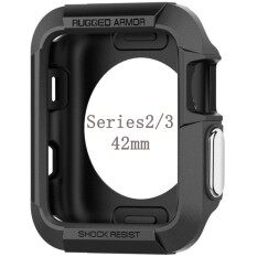【42mm】 Case For Apple Watch Case Series 3 / Series 2 / Series 1 Case With Resilient Shock Absorption For 42mm Apple Watch Rugged Armor Original Black By Evertoner.