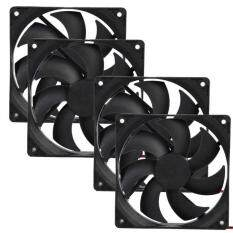 4pcs 120mm 120x25mm 12V 4Pin DC Brushless PC Computer Case Cooling Fan 1800PRM Malaysia