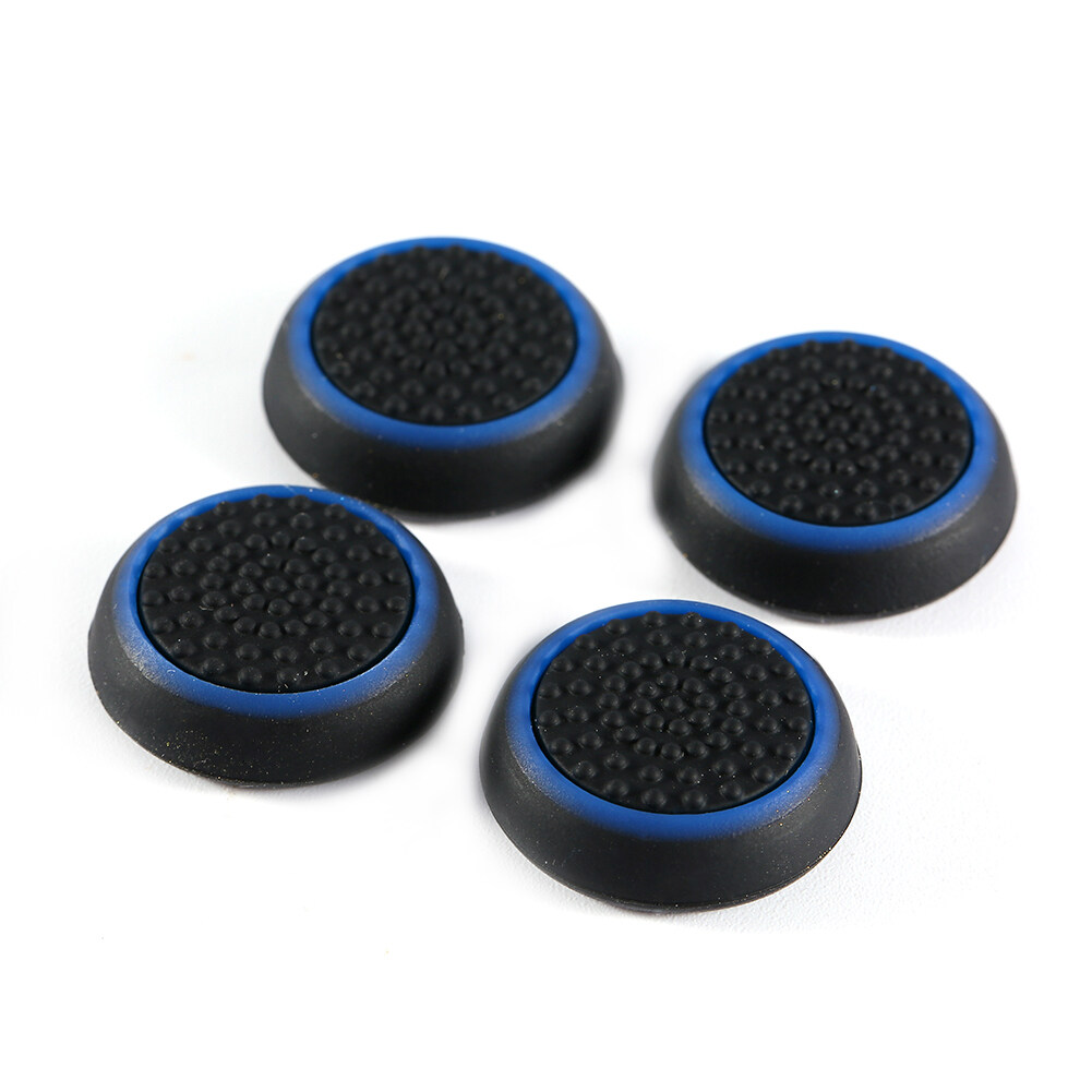 4Pcs Silicone Controller Thumb Stick Joystick Cap Cover For PS3 PS4 XBOX Blue - intl