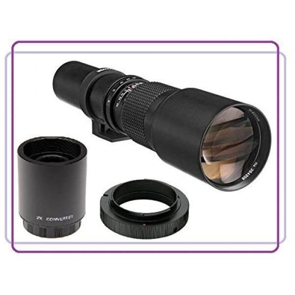 500mm f/8.0 Manual Focus Telephoto Lens + 2x Teleconverter = 1000mm For Nikon D3100, D3200, D3300, D5100, D5200, D5300, D5500, D7100, D7200, DF, D80, D90, D300, D610, D700, D750, D800, D810 DSLR - intl