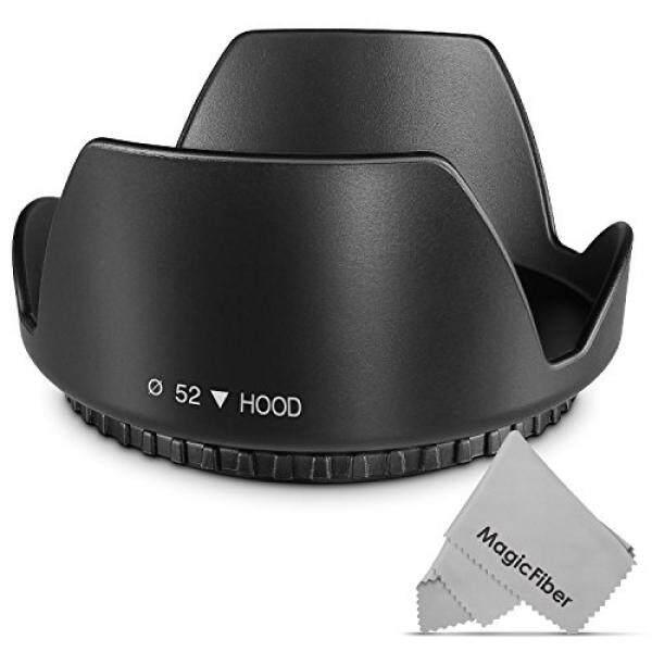 52MM Tulip Flower Lens Hood for Nikon AF-S 18-55mm, 55-200mm f/4-5.6G ED VR II, 50mm f/1.8D, 35mm f/1.8G, Pentax 18-55mm and Select Canon, Sony, Sigma and Tamron Lenses - intl