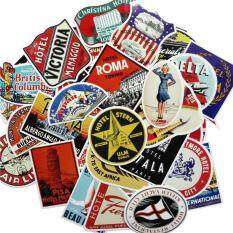 55 Pcs Laptop Stickers Removable Retro Poster Car Stickers Bicycle Skateboard Stickers By Taopanda.