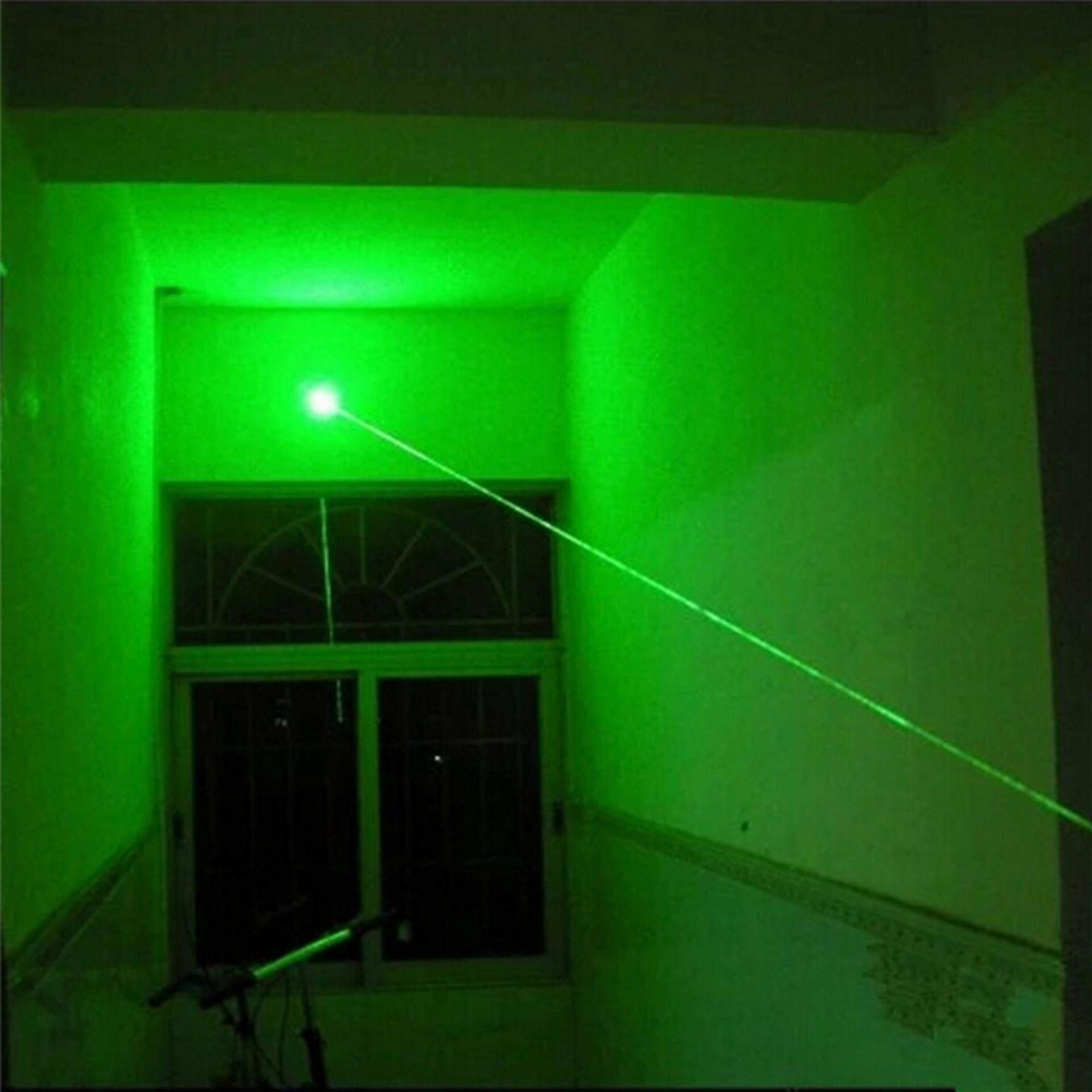 5 MW 532nm Militer Yang Kuat Cahaya Terlihat Sinar Hijau/Merah Penunjuk Cahaya Pena…-Intl