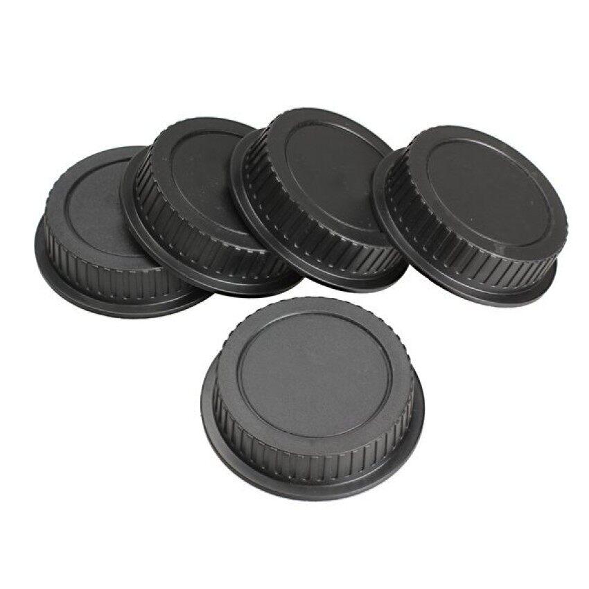 5 Pcs Belakang Lensa Tutup Debu Sarung untuk Canon EF Es-s EOS Seri Lensa (Hitam) -Internasional