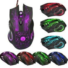 BPFAIR 6 Button 5500 DPI LED Optical USB Wired Gaming PRO Mouse Mice For PC Laptop Free shipping Malaysia
