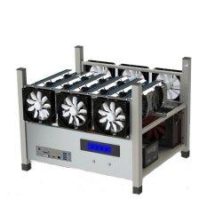 6 GPU Open Air Mining Case Computer ETH Miner Frame Rig 6x Fan & Temp Monitor Malaysia