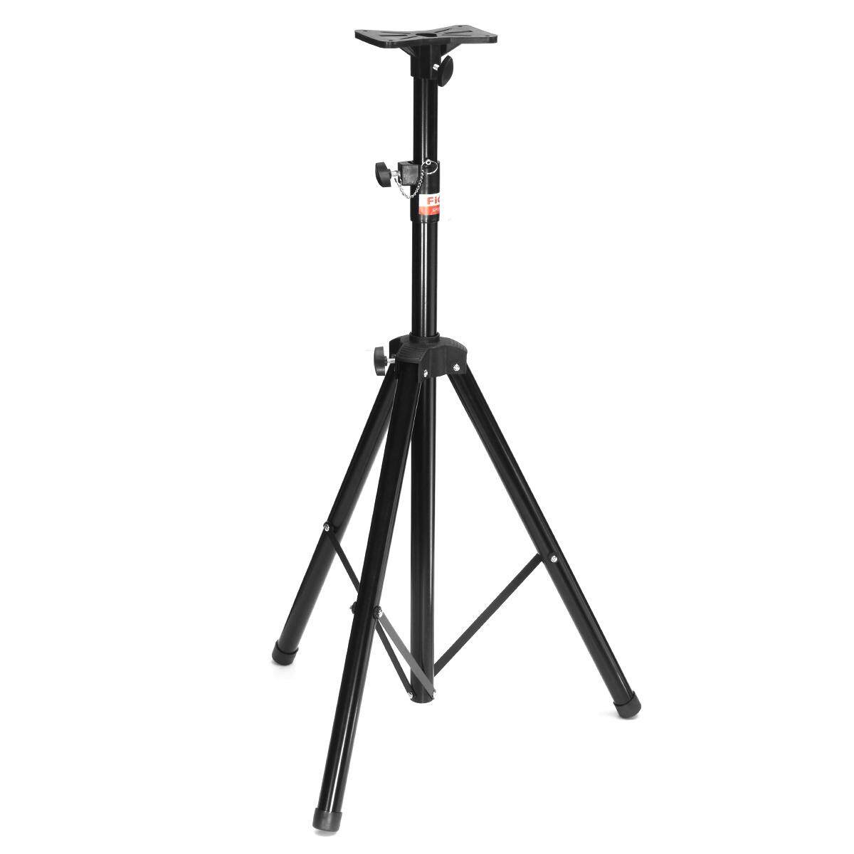 60kg/132lbs Black Tripod DJ PA Speaker Stands Steel Frame Universal Adjustable - intl