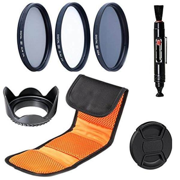 62 Mm Set Filter: SLIM UV SLIM CPL, Kepadatan Netral ND4 Filter untuk Canon, Nikon, Sony, samsung, Sigma Fujifilm, Fuji, Fujinon, Tamron, Tokina, Pentax, carl Lensa Zeiss (62 Mm)-Intl