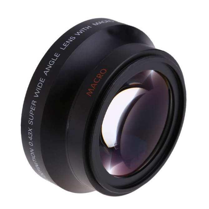 67mm Digital High Definition 0.43×Ser Wide Angle Lens With Macro Japan Optics for Canon Rebel T5i T4i T3i 18-135mm 17-85mm