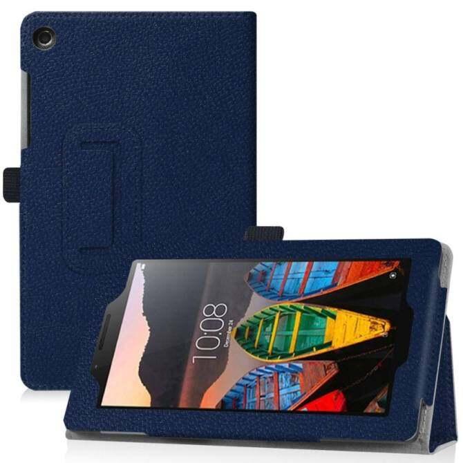7 Lenovo Tab 3 Esensial Case-Pu Kulit Case Sarung untuk 7 Lenovo Tab3 Esensial 7.0 710F 710I Tablet 2016 Melepaskan (Biru) -Internasional