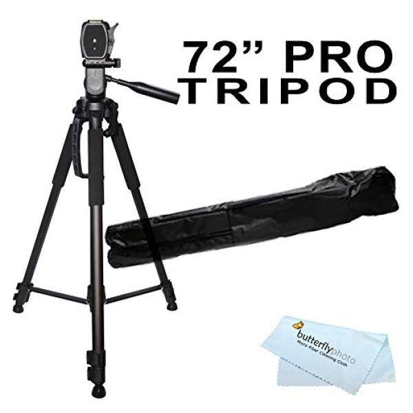 72 inch Tripod w/Case For The Nikon Df, D7200, D5300, D3300, D5200, D3200, D3X, D3S, D700, D300S, D7000 D90 D5100 D800 D800E D810 D600 D610, D7100, D750 DSLR and Blackmagic Pocket Cinema Camera + More - intl