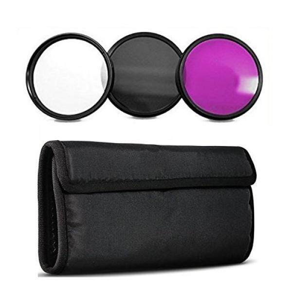 72 Mm Set Filter Inclusdes: Ultra Violet + Circular Polarizer + Fluorescent Filter untuk Canon, Carl Zeiss, Fujifilm, nikon, Panasonic, Pentax, Olympus Samsung, Sigma Sony, Tamron, Tokina Lensa-Intl