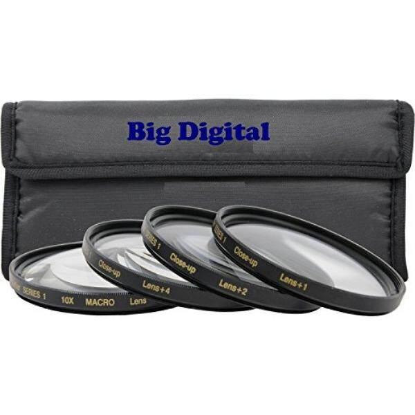 72mm Macro Close-Up Filter set +1 +2 +4 +10 w/ filter Wallet for Canon EF 35mm f/1.4L EF 85mm f/1.2L II EF 135mm f/2L, Nikon 85mm f/1.4 18 200mm f/3.5 5.6G Lens - intl