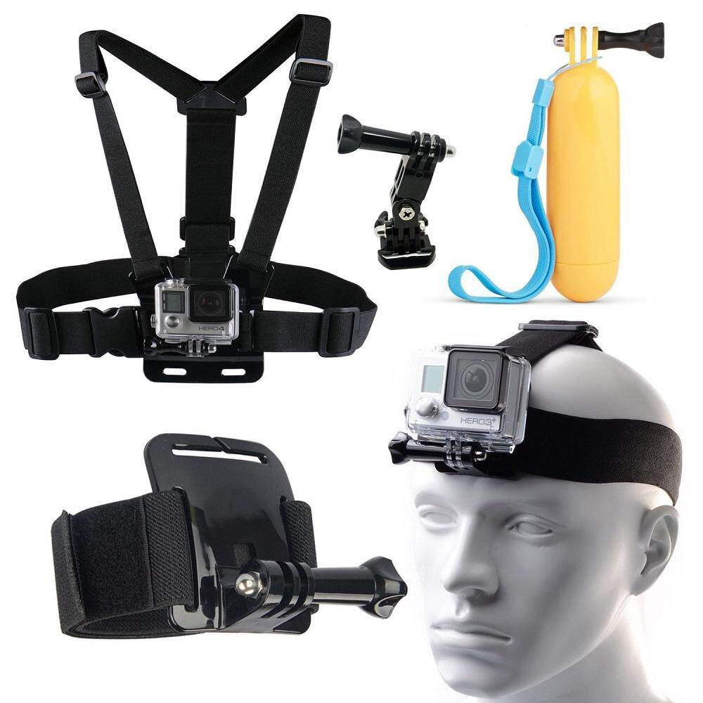 8-IN-1 Body Set of Head Chest Wrist Mount Accessories Kit Bundle for Gopro Hero 4 3 3+ 2 Plus Session - intl