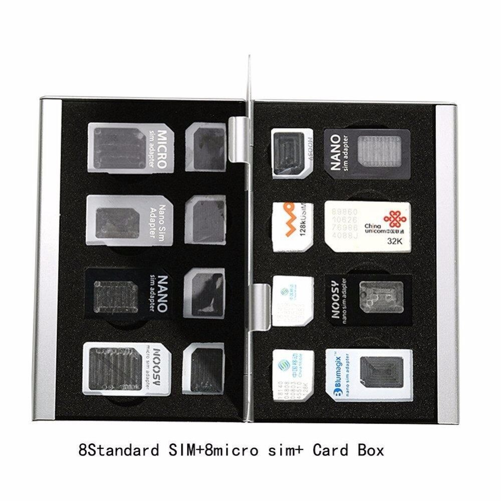 Sim Tool Singapore Micro Nano Lazada Card Adapter Noosy 3 In 1 Original 8 Holders Holdersmetal Aluminum Alloy Sd