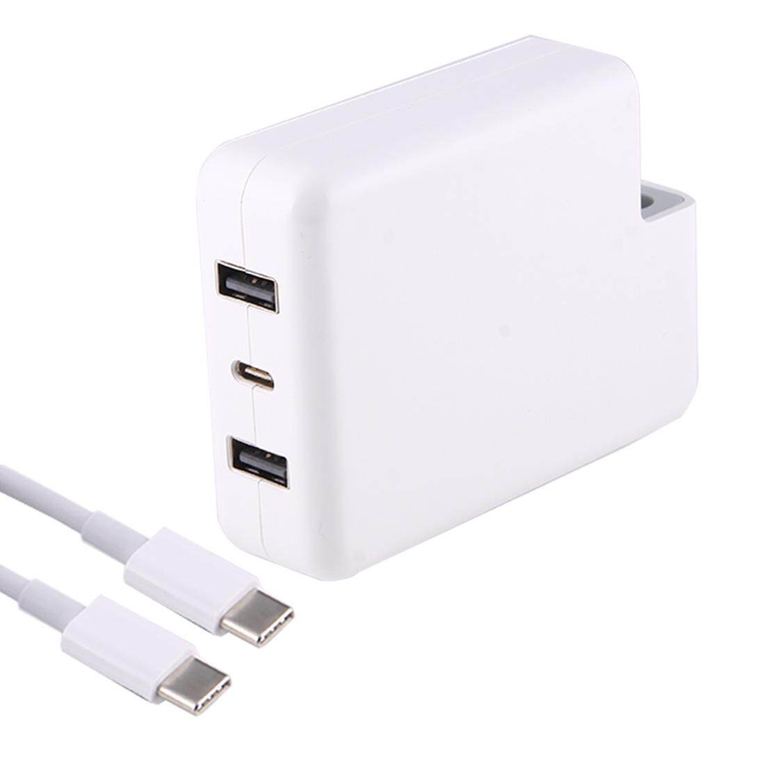 87 W/61 W USB-C/Type-c Adaptor Daya Pengisian Cepat dengan 2 M USB-C/Jenis kabel & Identifikasi Otomatis, tanpa Steker, untuk Macbook, iPhone, Galaksi, Huawei, Xiaomi, LG, HTC dan Ponsel Pintar Lainnya, Perangkat Isi Ulang (Putih)-Internasional