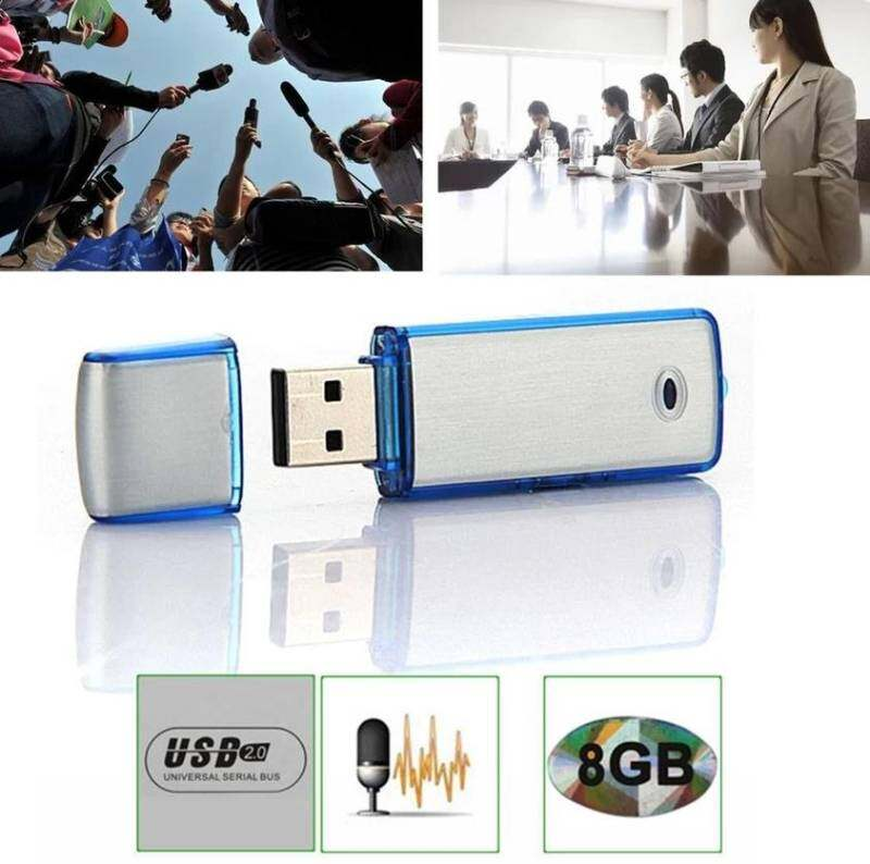 8GB USB Voice Recorder Rechargeable Digital Audio Recorder Hidden Pen Drive Dictaphone Record Meetings. Lectures. Interviews