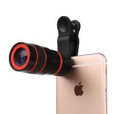 8X Ponsel Teleskop Ponsel HD Telepon Kamera Eksternal Lensa Telefoto Mini Portable Teleskop Bermata Satu Android Apple Ponsel Kamera Universal