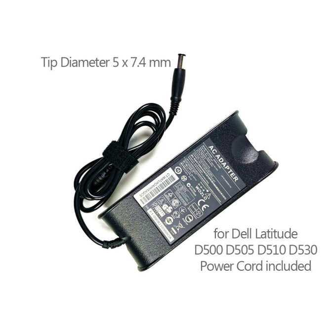 90W Laptop AC Adapter for Dell Latitude D500 D505 D510 D530 Power Supply Chargerwith UK Power Cord (Black) - Intl
