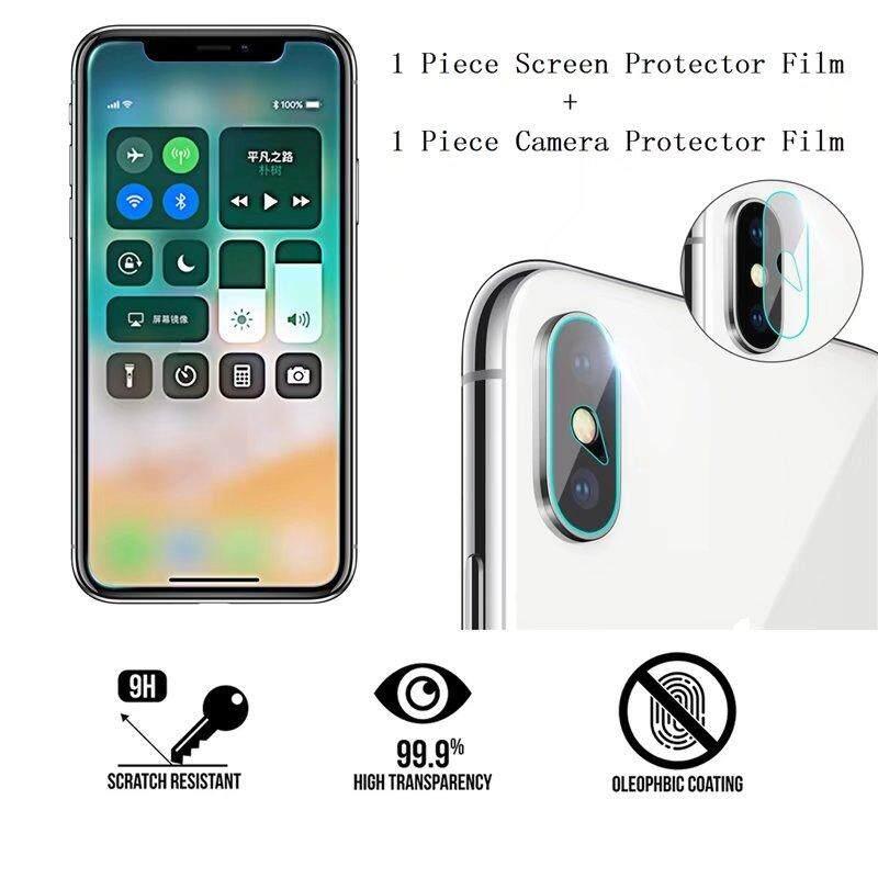 9 H Kaca Anti Gores Depan Tampilan Layar + Kembali Kamera Ponsel Pelindung Lensa Film Stiker Kamera untuk Moto Z2 Bermain-Intl