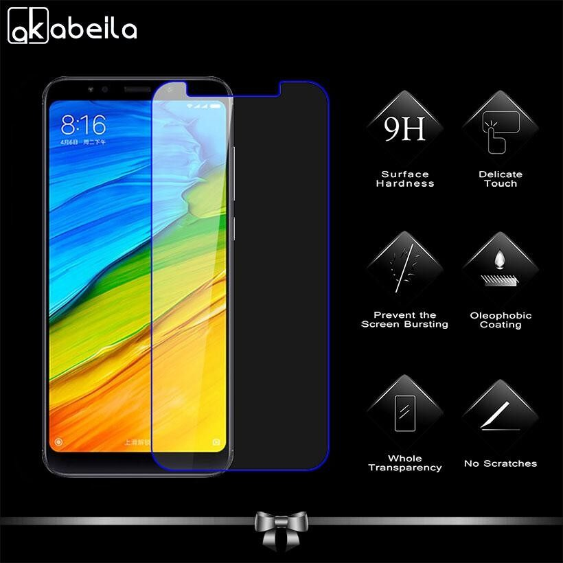 TD 2PCS Tempered Glass for Xiaomi Redmi 5 Plus 5.99 inch Covers Screen Protector Ultra Thin