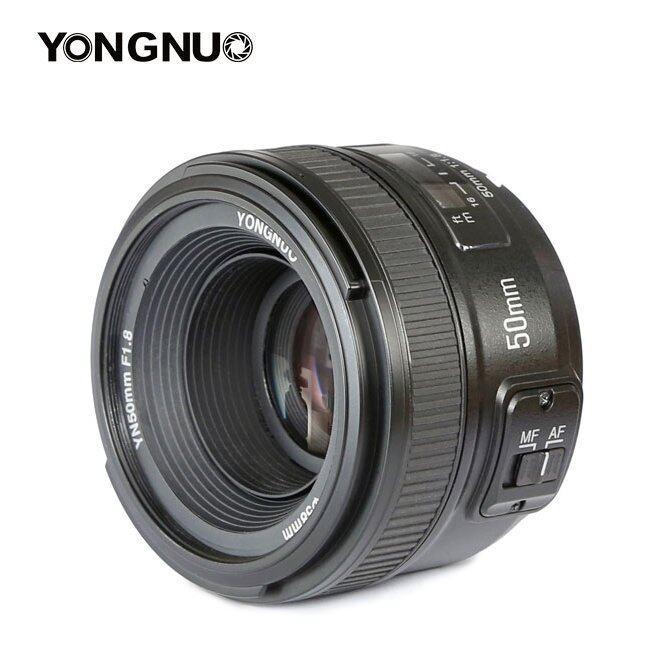 FineTop Yongnuo Lenses YN50mm F1.8 AF/MF Standard Prime Lens for Nikon Camera