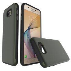 Ringan, Tipis timbul Bergaris Tekstur dengan Brushed Logam Warna Yang Mengesankan Dua Bagian Pelindung Ponsel Case Cover untuk Samsung Galaxy J5 Perdana/ on5 2016 (Warna: c0)