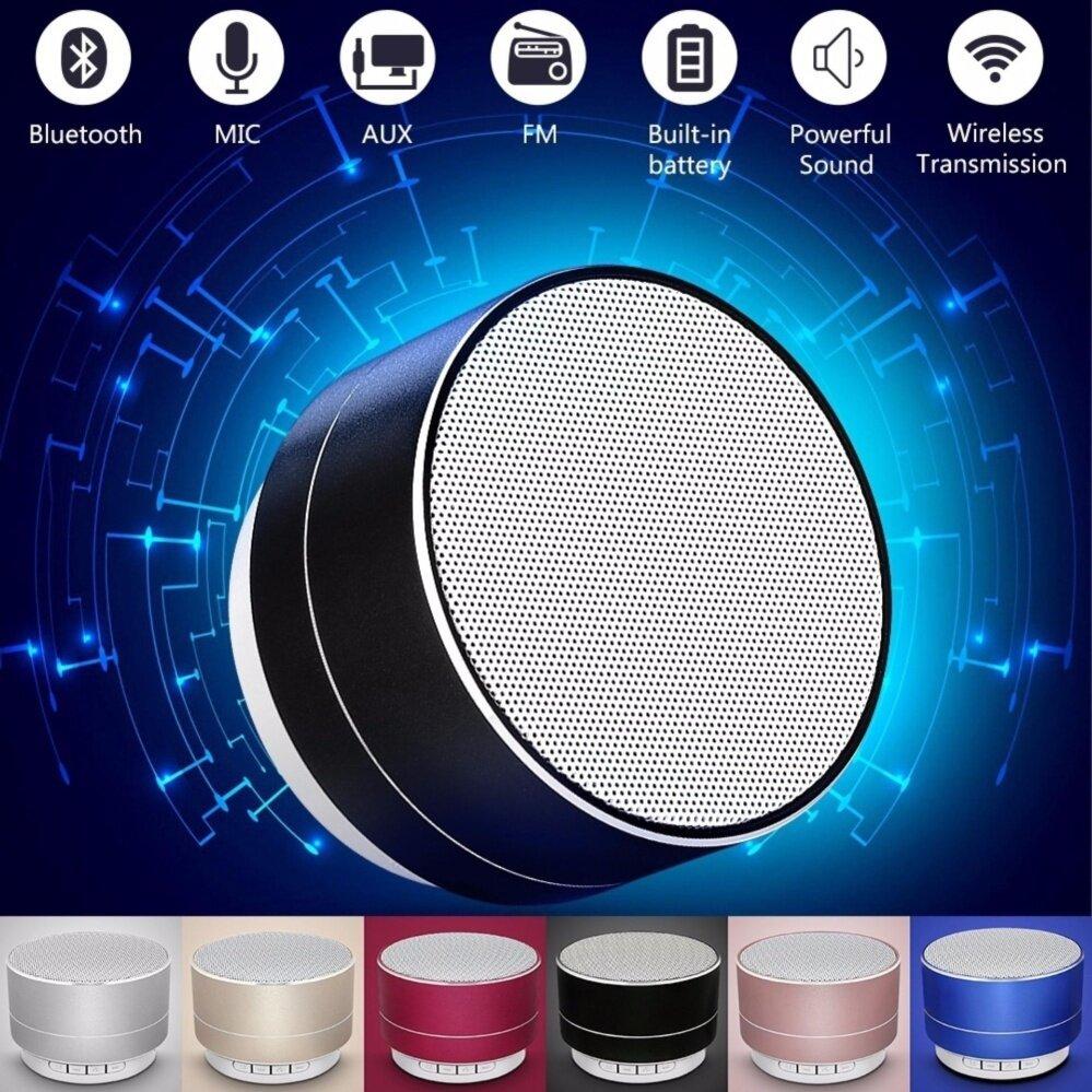 MYR 28. A10 Mini Metal Bluetooth Speaker Handsfree Subwoofer Wireless Music Sound Box Support ...