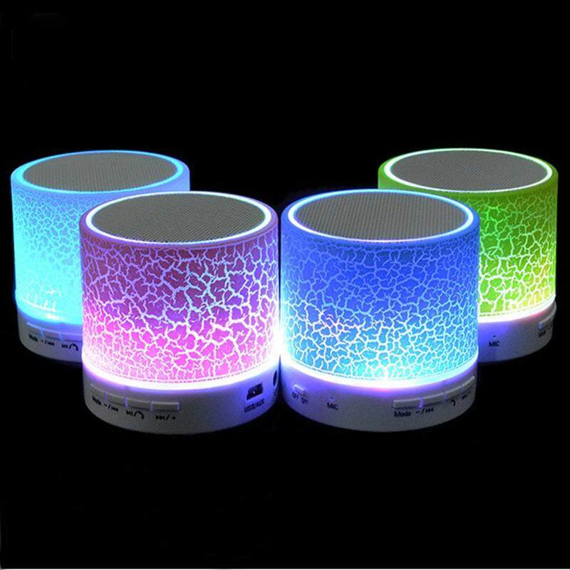 SOUTH RISE A9 LED Mini Portable Bluetooth Speaker Wireless Super Bass Smart Speakers Handsfree With FM Radio Support TF SD Card For Car Mobile Phone - intl