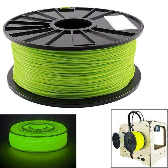 ABS 1.75 mm Luminous 3D Printer Filaments, about 395m(Green)