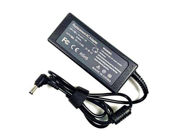 Adaptor AC Power Supply & Kabel untuk GATEWAY Solo 400SD4 450RGH 450ROG 600YG2 dengan Kabel Daya Inggris (Hitam)-Intl-Intl