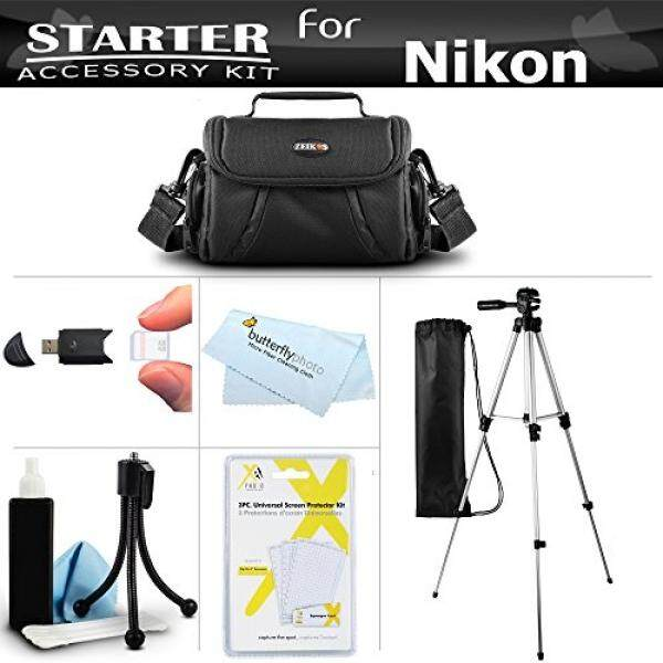 Accessory Starter Kit For The Nikon Coolpix B500, L330, L340, L310, L810 L820, L620, L830, L840 Digital Camera Includes Deluxe Carrying Case + 50 Tripod w/Case + Screen Protectors + Mini Tripod + More - intl
